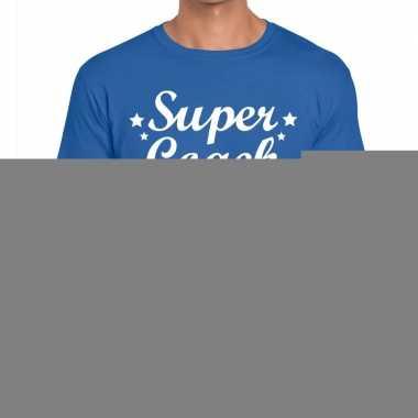 Goedkope super coach fun t shirt blauw voor heren bedankt cadeau voor