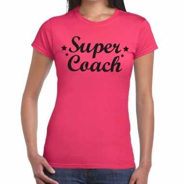 Goedkope super coach fun t shirt roze voor dames bedankt cadeau voor