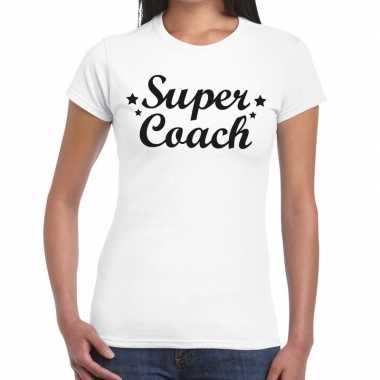 Goedkope super coach fun t shirt wit voor dames bedankt cadeau voor e
