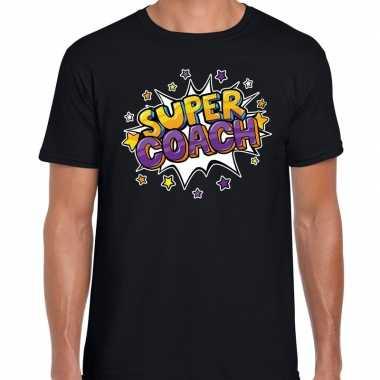 Goedkope super coach fun t shirt zwart voor heren bedankt cadeau voor