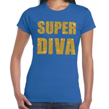 Goedkope super diva fun t shirt blauw voor dames