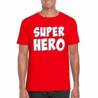 Goedkope superhero fun t shirt rood voor heren