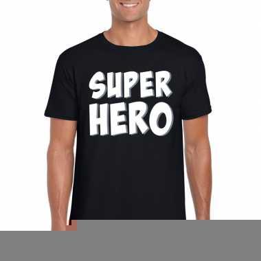 Goedkope superhero fun t shirt zwart voor heren