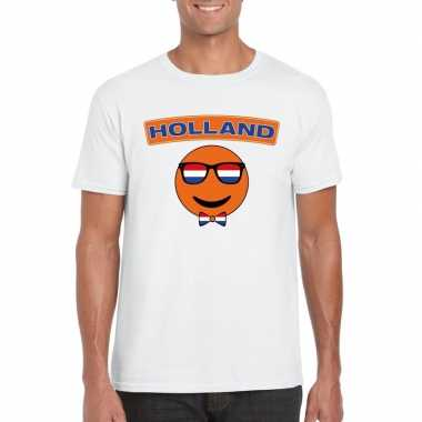 Goedkope t shirt holland smiley wit heren