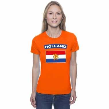 Goedkope t shirt hollandse vlag oranje dames