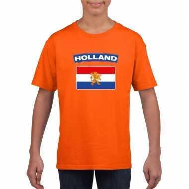 Goedkope t shirt hollandse vlag oranje kinderen