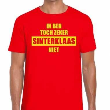 Goedkope t-shirt voor mannen met tekst ik ben toch zeker sinterklaas niet
