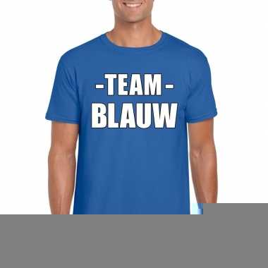 Goedkope team blauw shirt heren voor sportdag