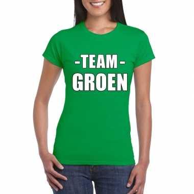 Goedkope team groen shirt dames voor sportdag