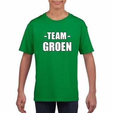 Goedkope team groen shirt jongens en meisjes voor evenement