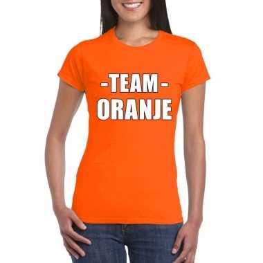 Goedkope team oranje shirt dames voor sportdag