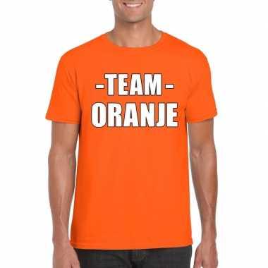 Goedkope team oranje shirt heren voor sportdag