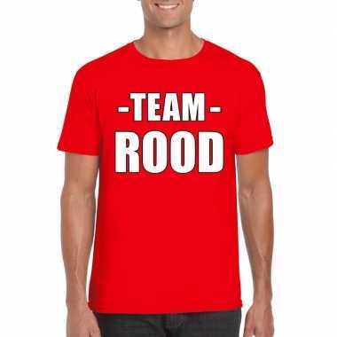 Goedkope team rood shirt heren voor sportdag
