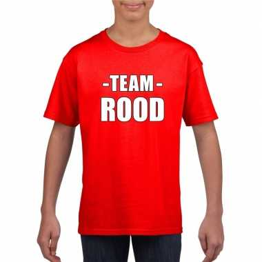 Goedkope team rood shirt jongens en meisjes voor evenement