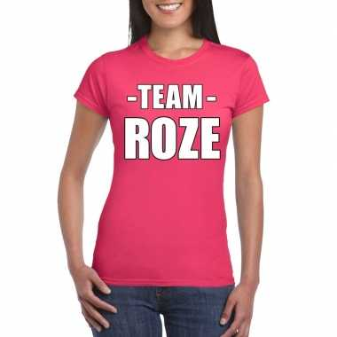 Goedkope team roze shirt dames voor sportdag