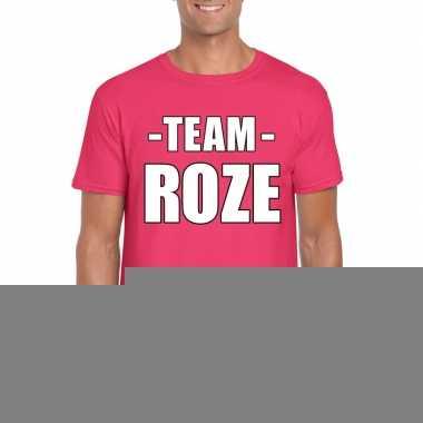 Goedkope team roze shirt heren voor sportdag