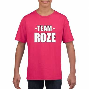 Goedkope team roze shirt jongens en meisjes voor evenement