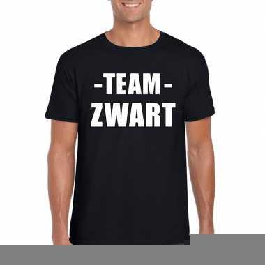 Goedkope team zwart shirt heren voor sportdag