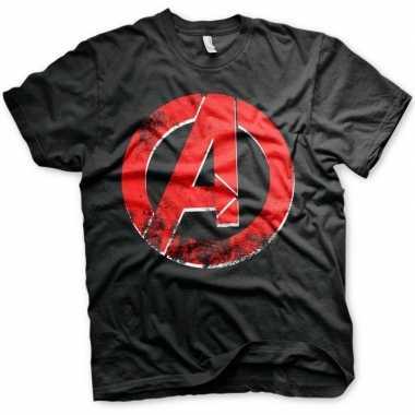 Goedkope the avengers t shirt zwart voor mannen