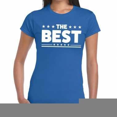 Goedkope the best fun t shirt blauw voor dames