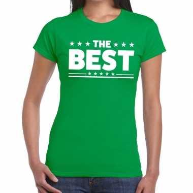 Goedkope the best fun t shirt groen voor dames