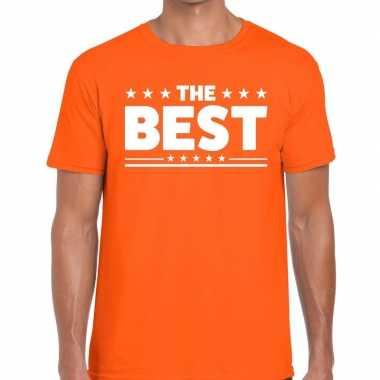 Goedkope the best fun t shirt oranje voor heren