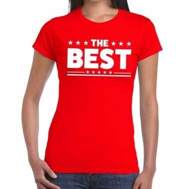 Goedkope the best fun t shirt rood voor dames
