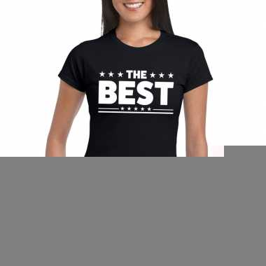 Goedkope the best fun t shirt voor dames zwart