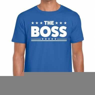 Goedkope the boss fun t shirt voor heren blauw