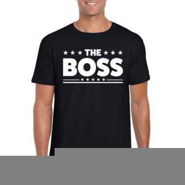 Goedkope the boss fun t shirt voor heren zwart