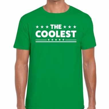 Goedkope the coolest fun t shirt groen voor heren