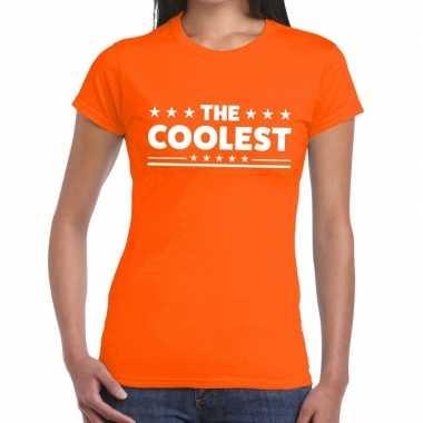 Goedkope the coolest fun t shirt oranje voor dames