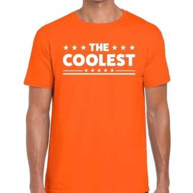 Goedkope the coolest fun t shirt oranje voor heren