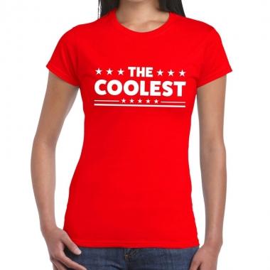 Goedkope the coolest fun t shirt rood voor dames