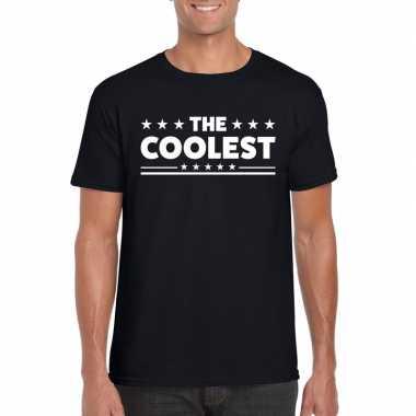 Goedkope the coolest fun t shirt voor heren zwart