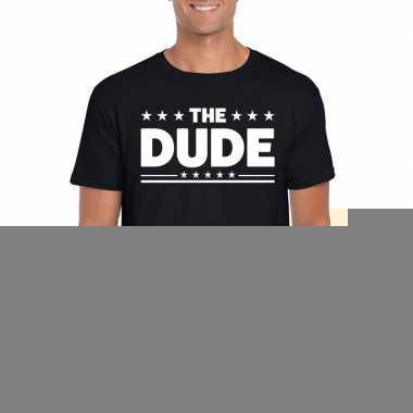 Goedkope the dude fun t shirt voor heren zwart