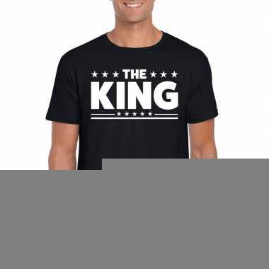 Goedkope the king fun t shirt voor heren zwart