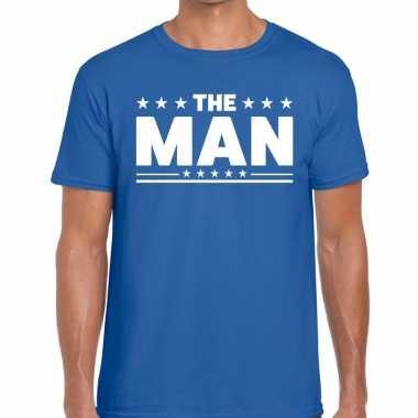 Goedkope the man fun t shirt voor heren blauw