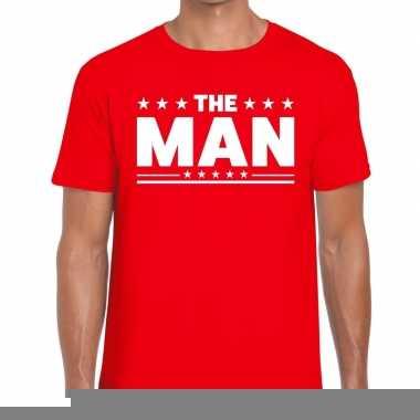 Goedkope the man fun t shirt voor heren rood
