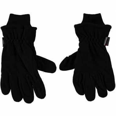 Goedkope thermo handschoenen zwart voor heren