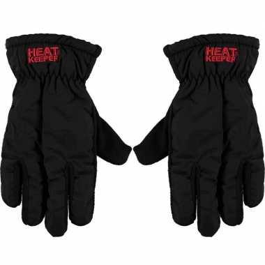 Goedkope thermo mega handschoenen zwart voor heren