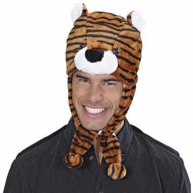 Goedkope tijger muts voor volwassenen
