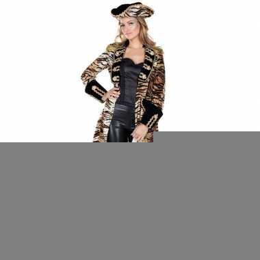 Goedkope tijgerprint dames piratenkleren jas