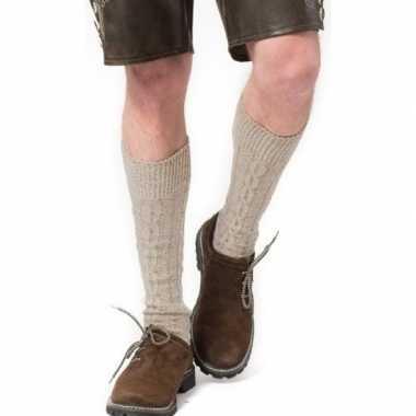 Goedkope tiroler / bierfeest/ lederhose sokken creme heren en dames