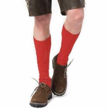 Goedkope tiroler / bierfeest/ lederhose sokken rood heren en dames
