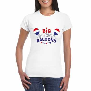 Goedkope toppers big party balloons t shirt wit dames