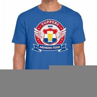 Goedkope toppers drinking team shirt blauw heren