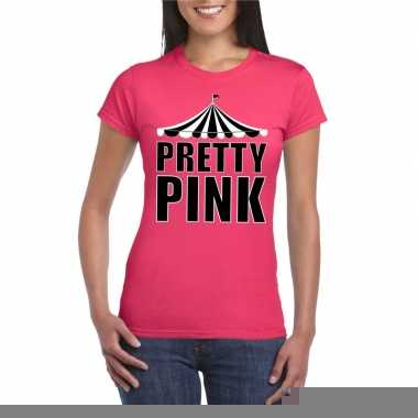 Goedkope toppers pretty pink pretty pink t shirt roze dames