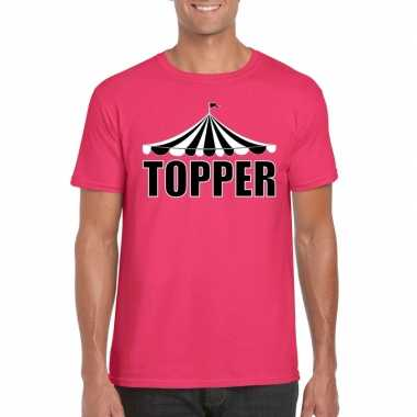 Goedkope toppers pretty pink shirt topper heren