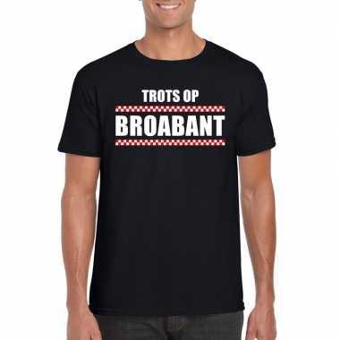 Goedkope trots op brabant fun t shirt voor heren zwart